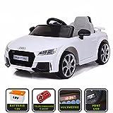 Cristom Voiture de Sport lectrique 12V pour Enfant Audi TT RS Tlcommande 2.4Ghz- Slot USB et Prise MP3 - Licence Audi (Rouge)