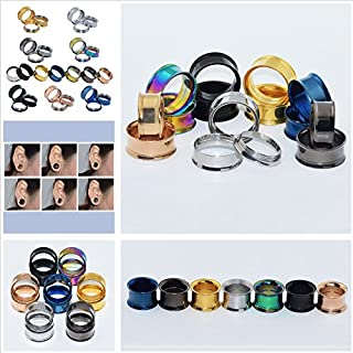HeBei Stainless Steel Screw Ear Gauges Flesh Tunnels Plugs Stretchers Expander Silver 12 mm
