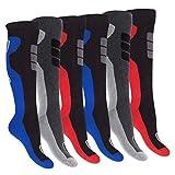 Footstar Herren Winter Kniestrümpfe (6 Paar), Warme Vollfrottee Socken mit Thermo Effekt - 39-42