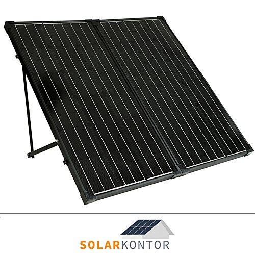WATTSTUNDE® 200W Solarkoffer MONO WS200SKS Solarmodul faltbar Wohnmobil Batterie