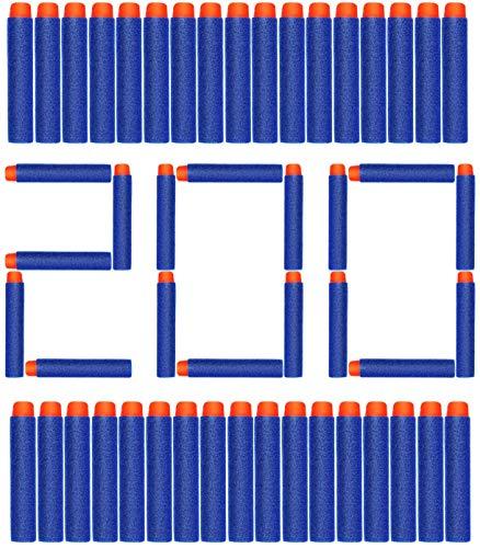 ZWOOS Foam Bullet Darts 7.2cm EVA Blue Foam Darts Recarga de Bala para NERF N-Strike Elite Series Blasters Kid Toy Guns (200 Piezas)