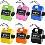 KTRIO Pack of 6 Color Hand Tally Counter 4-Digit...