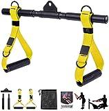 DESTRIC Accesorios para máquina de cable, mango desmontable, barra recta giratoria todo en uno, asas de ejercicio para gimnasio, levantamiento de pesas, crossfit y culturismo.
