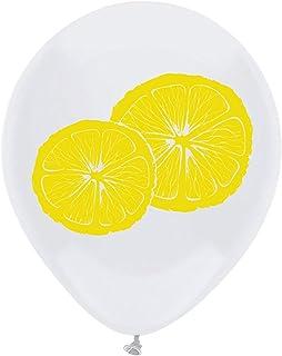Lemon Latex Balloons, 12inch (16pcs) Yellow Lemon Baby Shower Or Birthday Party Decorations, Supplies