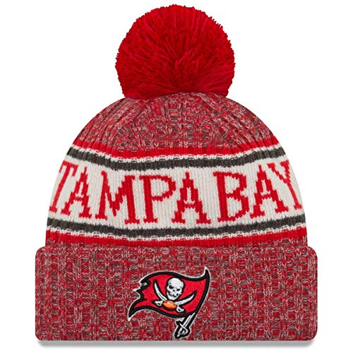 New Era ONF18 Sport Knit Bommelmütze Tampa Bay Buccaneers Rot, Size:ONE Size