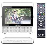 TLAXCA PSEワンセグテレビ7インチ液晶録画機能搭載エコラジ7ポータブルテレビ高画像1024×600ピクセルミニテレビ安いTV 地上デジタルテレビ mini B-CASカード入れ型テレビ 携帯スタンド置き付き録画 EPG電子番組表USB AV TFなど多機能搭載(ホワイト)