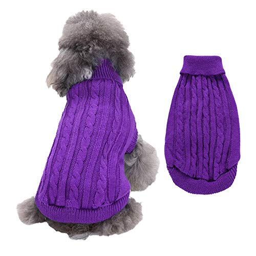 RayMinsin Hundepullover, warmer Haustierpullover, niedlicher Strick, einfarbig, für kleine Hunde,...