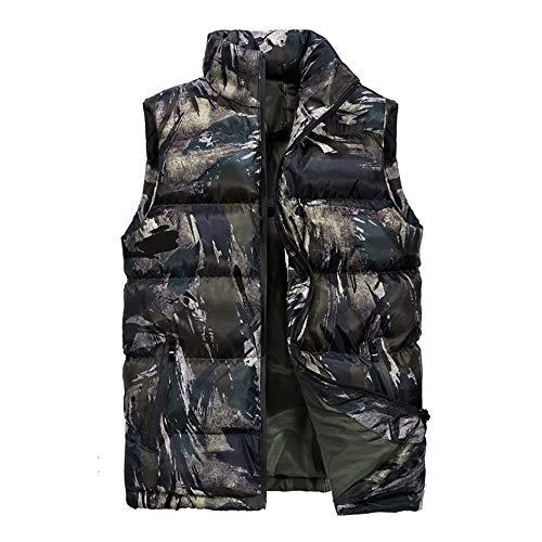 Heren Camouflage Outdoor Vest Jas, Herfst En Winter Nieuwe Veer Fluwelen Gilet Grote Maat Vest Jack, M-5XL