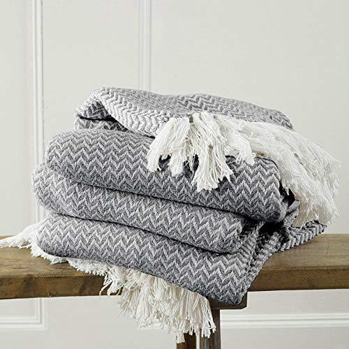 Be-Creative - Manta Tradicional de algodón para sofá o Cama