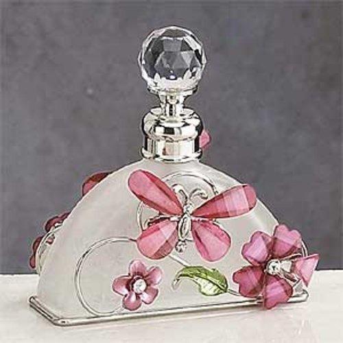 StealStreet Roze Vlinder Parfum Fles Geurende Geur Container