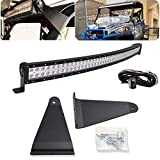 DaSen Compatible with Polaris Ranger 570/900/1000 Full Size 50' 288W High Power Curved LED...