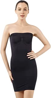 MD Women's Strapless Full Body Slip Shaper Seamless Smoother Tube Slip Under Dresses