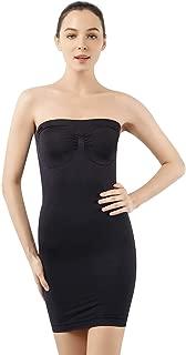 Women's Strapless Shaperwear Full Body Slip Seamless Targeted Firm Tummy Control Slip Under Dresses