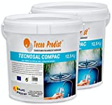 Tecno Prodist TECNOSAL - Sal compacta Especial para descalcificadores - Pack 2 Cubos de 12,5 kg...