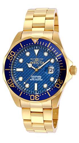 Invicta Men's Pro Diver 47mm Gold Tone Stainless Steel Quartz Watch, Gold (Model: 14357)