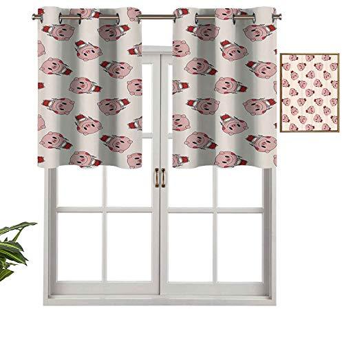Hiiiman Cenefa de cortina con ojales de alta calidad, juego de 1, 137 x 45 cm para decoración de interiores