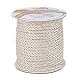 OLYCRAFT 30 Yards 5mm Twisted Nylon Cord Rope 3-Ply Blanched Almond Twisted Cord Trim for Home Decor, Crafts Making and Costume Crafting