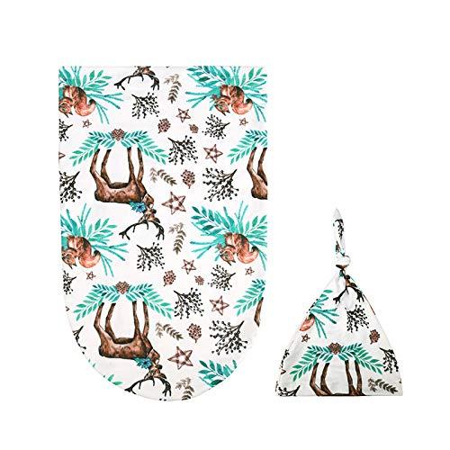 DaMohony Baby Swaddle Sack - Juego de gorros para recién nacido, diseño floral