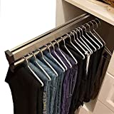 Closet Clothes Hanger Rail,Pull-Out Closet Rod 30-60cm,Wardrobe Clothing Rail,Closet Organizer Rack for Pants and Coat (Size : 600mm/23.6inch)