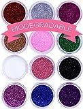 NYK1 | Set di 12 pot di Glitter per unghie | Prodotto per nail art di alta qualità | POLV...