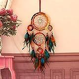 RUONING Atrapasueños hecho a mano con coloridas plumas del arco iris decoración para colgar en la pared para el hogar Festival de Navidad regalo de