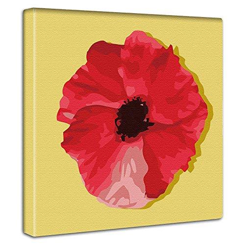 花 植物 アートパネル 30cm × 30cm 日本製 ポスター おしゃれ インテリア 模様替え リビング 内装 ポップ イエロー レッド ファブリックパネル pop-0031-ye