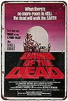 なまけ者雑貨屋 Dawn of The Dead Movie Poster ブリキ看板 壁飾り レトロなデザインボード ポストカード サインプレート 【40×30cm】