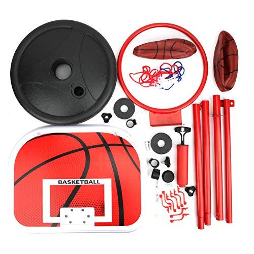 SALUTUY Soporte de Baloncesto portátil Ajustable, aro de Baloncesto para niños de Altura Ajustable y Soporte para Interior y Exterior