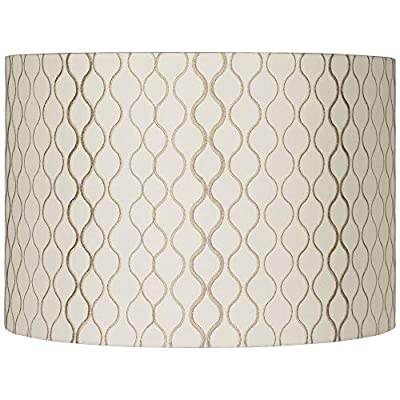 Embroidered Hourglass Lamp Shade 16x16x11 (Spider) - Springcrest