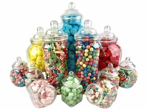 12 Pot vintage style victorien Pick & Mix Sweet Shop Candy Buffet kit Pack de fête
