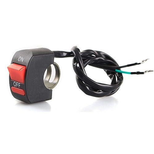 LEDUR Switch on off Motorcycle 7/9 Inch Universal Handlebar Mounting Switch for Headlight Fog Daytime Running Light