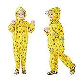 Baogaier Impermeables para Niñas Niños Chubasqueros Chaquetas Capa de Lluvia Encapuchado Mono de Bolsillo Amarillo Coche Mono Reflectante Abrigos Impermeables Unisex Bebé 6-7 años - Amarillo