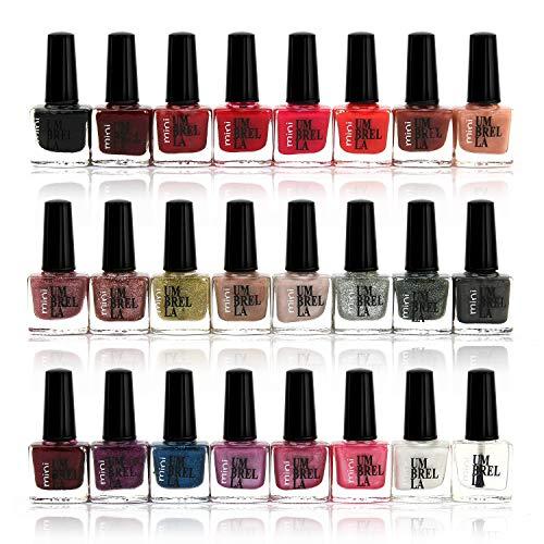 B4B Lot de 24 vernis à ongles, 24 couleurs différentes classiques, 6 ml, cadeau idéal