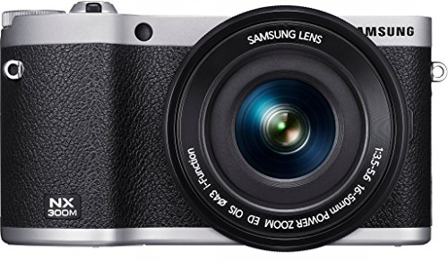 Samsung NX300M Smart Systemkamera (20,3 Megapixel, 8,4 cm (3,3 Zoll) Display, Full HD Video, WIFi, NFC, Adobe Photoshop Lightroom 5) inkl. 16-50 mm OIS i-Function Power-Zoom-Objektiv schwarz