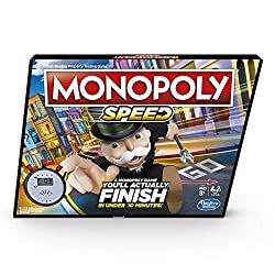 PLAY IN UNDER 10 MINUTES: In the mood to play the Monopoly game but don't have a lot of time? Players can actually finish the Monopoly Speed board game in less than 10 minutes PLAY IN TIMED ROUNDS: This quick-playing Monopoly board game is played in ...