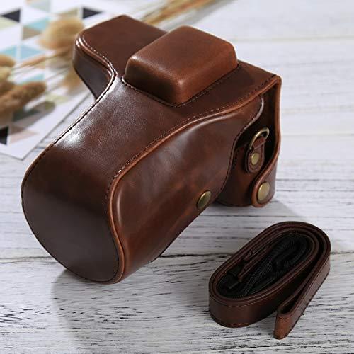 Ychaoya Camera Tas Wuzpx Goede Body Camera PU Lederen Hoesje Tas met Band voor Samsung NX300(Zwart), Koffie