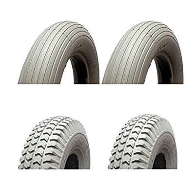 MOBILITY SCOOTER PUNCTURE PROOF TYRES 300-4 260 x 85 - FULL SET (4) SOLID TYRES