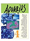 Big Happy Birthday Card - Aquarius Zodiac Sign Gift Featuring Famous People, Personality, Motto, Birth Stone, Symbol, Planet, Color, Flowers and Dates 8.5 x 11 Inch J9440