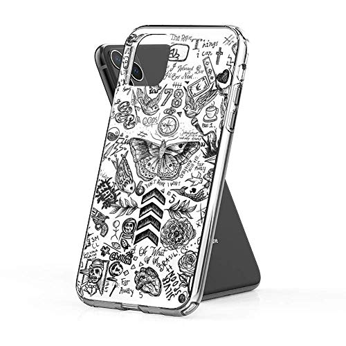 JSBFR Compatible with iPhone 7 Plus/8 Plus Case Clear Anti-Scratch Shock One Direction Tattoos Cover Phone Cases for Compatible with iPhone
