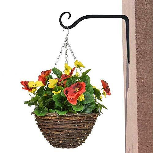 CHDHALTD Vintage Rack Holder,Hanging Plants Bracket Planter Hook,Iron Wall Hooks Metal Lantern Bracket Decorative Coat Hook for Hanging Lantern