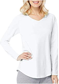 Hanes Women's Long Sleeve V-Neck Tri-Blend Tee