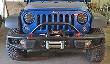 Rock Hard 4x4 Grille Guard and Light Mount Hoop for 10A/Hardrock/Recon Edition Jeep Wrangler JK 2/4DR 2007-2018