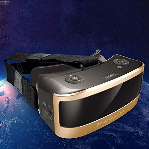 VR-one Lunettes de cinéma 3D Virtual Reality Jeu Casque Casque 1080P Huit-cœur CPU Sharp HD Panoramique Expérience ( Color : Or )