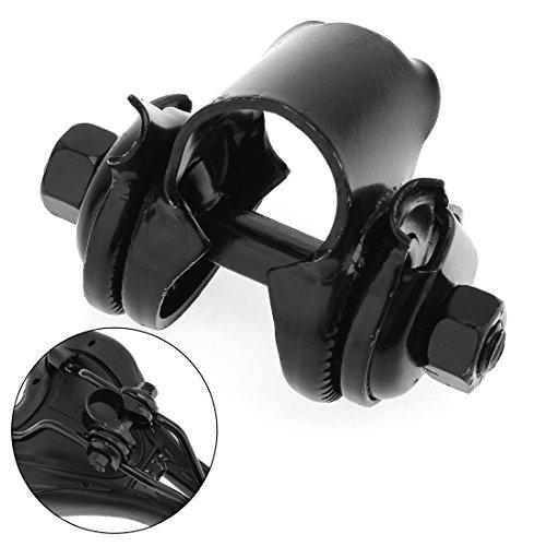 OriGlam - Staffa di montaggio a morsetto per sella, 22,2 mm, colore: Nero