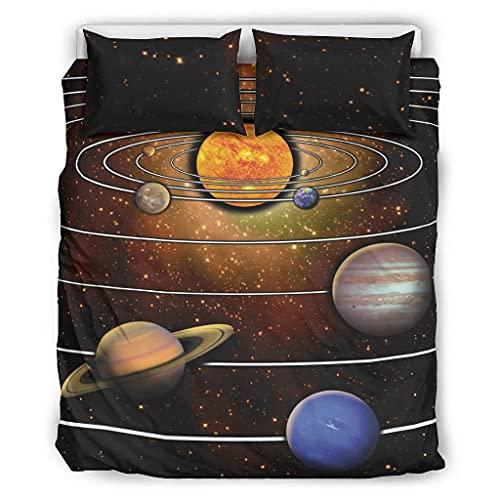 STELULI Coverlet - Colcha de microfibra suave para cama Galaxy 1 y 1 funda de almohada para dormitorio de niñas, 167,6 x 228,6 cm