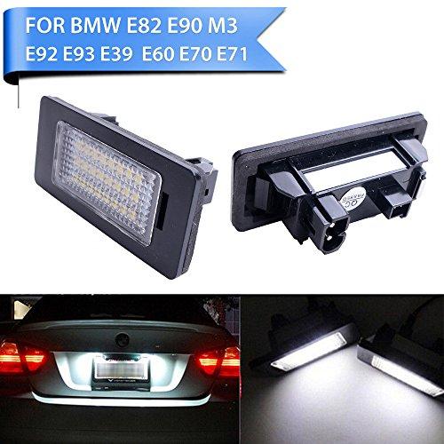 GSRECY For BMW 3 5 Series E39 E60 E90 E92 F30 F10 E82 White LED License Number Plate Light Lamp