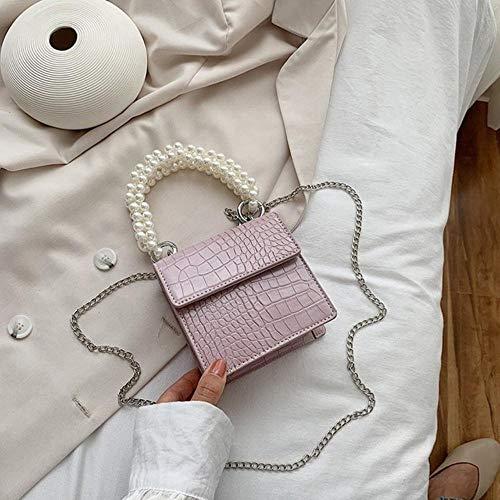 PANZZ Crossbody Bags Women Summer Handle Lady Shoulder Handbags, Light Purple, Mini