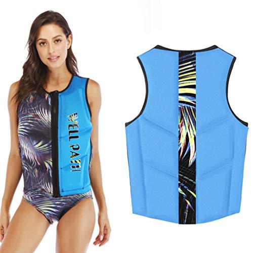 Chaleco de natación para Adultos, Chaleco de natación para Adultos con Estampado de Moda con Hebilla Ajustable Chaleco de natación Reflectante de flotabilidad para Pesca y Surf