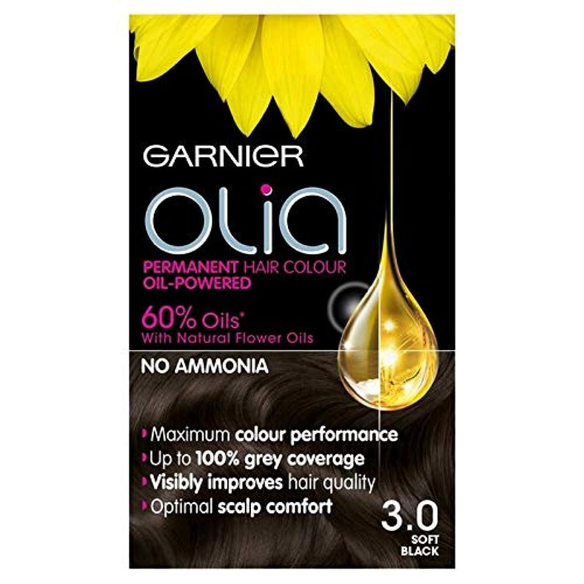 一般的に民族主義エジプト人[Garnier ] 3.0ソフト黒のパーマネントヘアダイOliaガルニエ - Garnier Olia 3.0 Soft Black Permanent Hair Dye [並行輸入品]