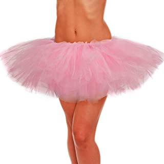 Adult Tutu Skirt, Tulle Tutus for Women, Teens Ballet Skirts Classic 5 Layers
